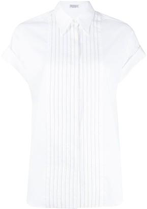 Brunello Cucinelli Cap Sleeve Button Down Shirt