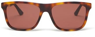 Gucci Square Tortoiseshell-effect Acetate Sunglasses - Brown