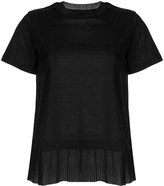 Emporio Armani layered pleated t-shirt
