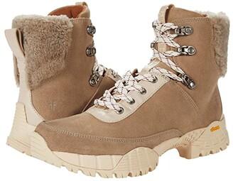 Frye Brit Shearling Hiker (Beige Multi Suede/Tumbled Goat/Shearling) Women's Boots