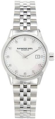 Raymond Weil Freelancer Stainless Steel, Mother-Of-Pearl Diamond Bracelet Watch