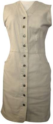 Kenzo Ecru Cotton Dresses