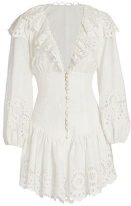 Zimmermann Bellitude Eyelet Lace Mini Dress