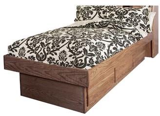 Loon Peak Branton Twin Platform Bed Color: Antique Alder
