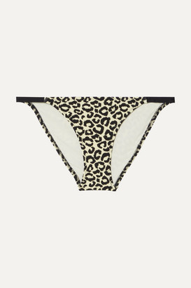 Solid & Striped The Morgan Leopard-print Bikini Briefs