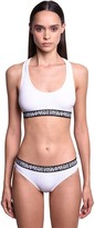 DSQUARED2 Double Logo Cotton Jersey Sports Bra
