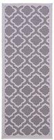 "Diagona Designs Contemporary Moroccan Trellis Design Non-Slip Runner Rug, 20"" W X 59"" L, Grey & Charcoal"