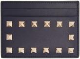 Valentino Navy Rockstud Card Holder