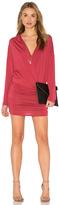 Krisa Surplice Sheered Mini Dress