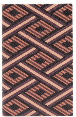 Smythson Diamond-patterned Grained Leather Notebook - Mens - Brown