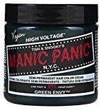 Manic Panic Semi-Permament Haircolor Green Envy 4oz Jar (6 Pack)