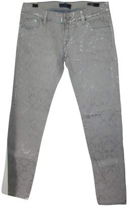 GUESS Grey Cotton Jeans for Women
