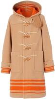 Burberry hooded duffel coat