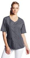 Cherokee Women's Workwear Scrubs Button Front Top