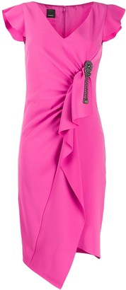 Pinko Asymmetric Ruffle Dress
