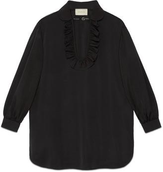 Gucci Silk viscose faille maxi shirt