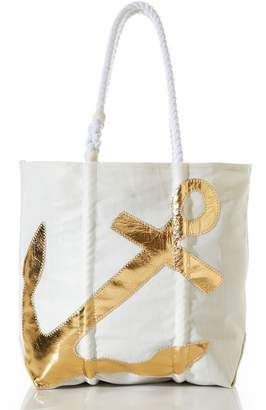 Pottery Barn Gold Anchor Tote Bag