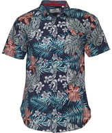 Kangaroo Poo Mens Tropical Print Short Sleeve Shirt Navy/Multi