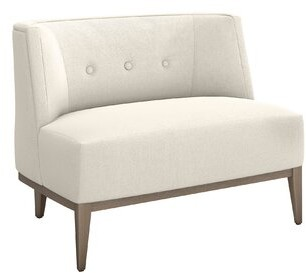 Interlude Chloe Lounge Chair Fabric: Pearl Chenille