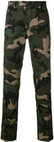 Valentino camouflage print tailored trousers