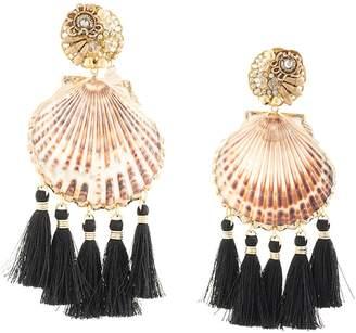 Mercedes Salazar Fiesta shell earrings