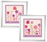 Bed Bath & Beyond Cutesy Flowers Wall Art (Set of 2)
