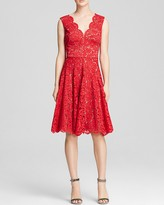 Vera Wang Dress - Scalloped Lace Fit and Flare