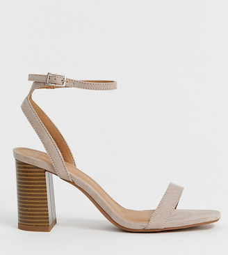 ASOS DESIGN Hong Kong barely there block heeled sandals