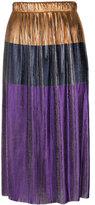 Golden Goose Deluxe Brand metallic plissé skirt - women - Polyester - XS