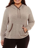 SJB ACTIVE St. John's Bay Active Long Sleeve Hoodie with Pockets-Plus