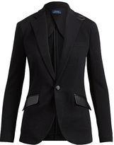 Polo Ralph Lauren Leather-Trim Cotton Blazer