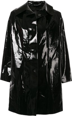 Kassl Editions Above The Knee Lacquered Coat