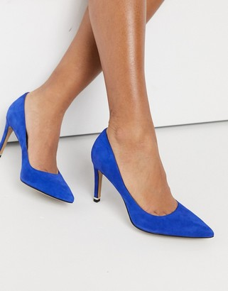 Kenneth Cole riley 85 mid-heeled court shoes in colbalt leather