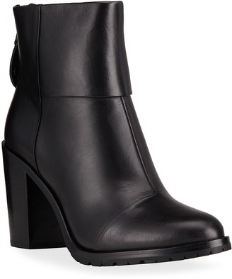 Rag & Bone Newbury Cuffed Leather Zip Booties