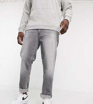 Burton Menswear Big & Tall slim jeans in grey