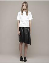 Cédric Charlier faux leather skirt