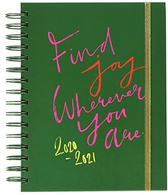 ban.do Find Joy 17 Month Medium Agenda (Green) Wallet