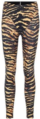 Adam Selman Sport French Cut tiger-print leggings