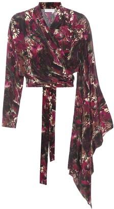 Balenciaga Silk-crepe wrap top
