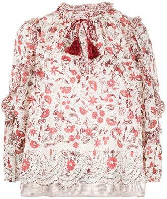 Ulla Johnson Azalea floral blouse