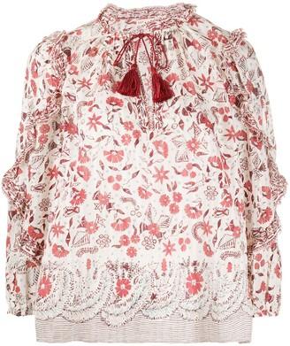 Ulla Johnson Azalea floral blouse