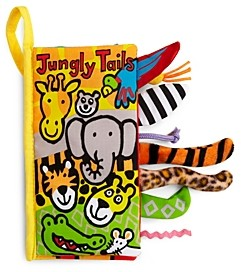 Jellycat Jungly Tails Fabric Book - Ages 0+