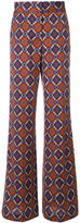 Etro printed flared trousers - women - Cotton/Viscose/Wool - 42