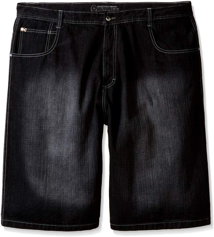 Southpole Men's Big-Tall 4180 Denim Short In Relaxed Fit