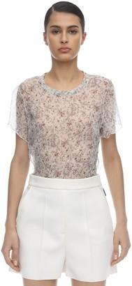 SIR the Label Tilda Floral Printed Crinkled Silk Top
