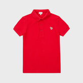 Paul Smith Boys' 7+ Years Red Zebra-Logo 'Luciano' Polo Shirt