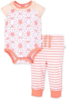 Burt's Bees Printed Tie dye Star Organic Baby Bodysuit & Pant Set