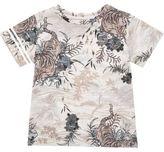 River Island Mini boys orange oriental print t-shirt