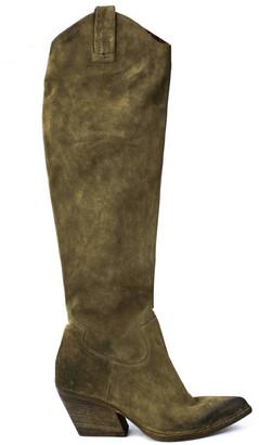 Elena Iachi Sand Suede High Boots