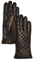 Bloomingdale's Cashmere Lined Quilted Leather Gloves